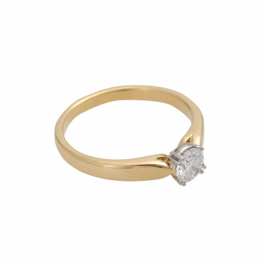 Solitaire ring with 1 diamond approx 0.6 ct - photo 2