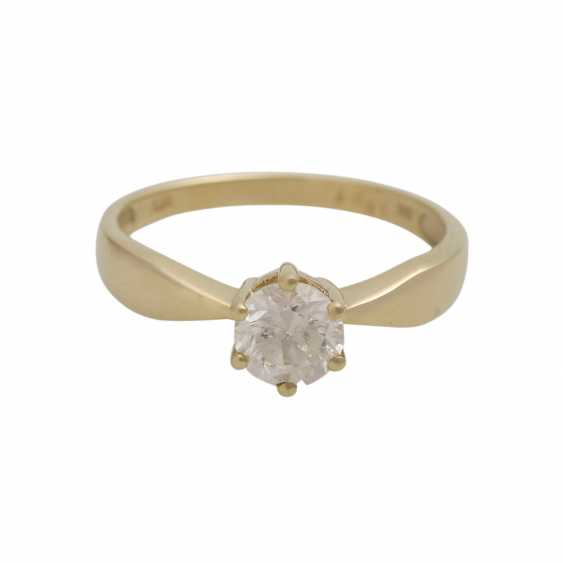 Solitaire ring with 1 diamond approx 1 ct - photo 1