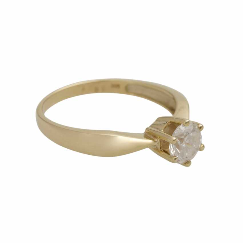 Solitaire ring with 1 diamond approx 1 ct - photo 2