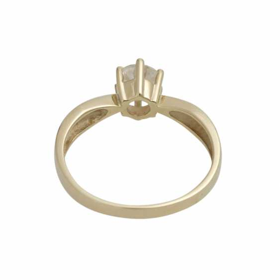Solitaire ring with 1 diamond approx 1 ct - photo 4