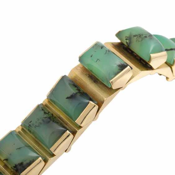 Design bracelet with 15 green dendrite agates, - photo 4