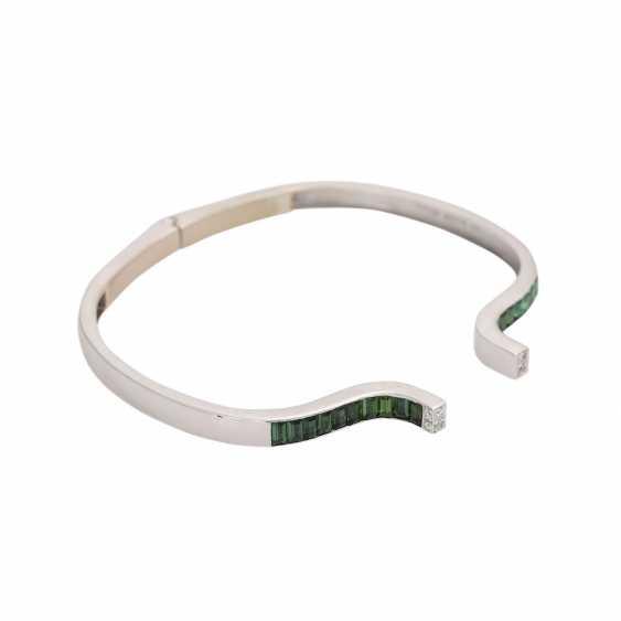 Bracelet with green tourmalines and diamonds - photo 2