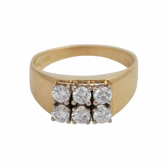 Ring with brilliant-cut diamonds, together approx 0,73 ct - photo 1