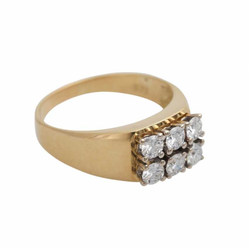 Ring with brilliant-cut diamonds, together approx 0,73 ct - photo 2