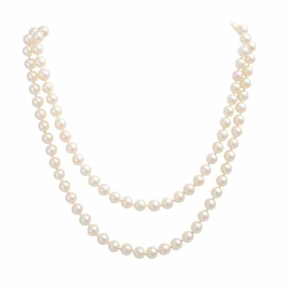 Akoya pearl necklace 2-row, - photo 1