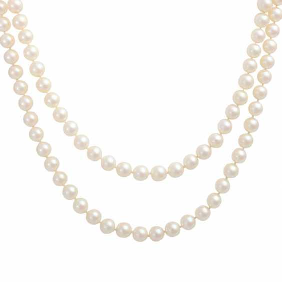 Akoya pearl necklace 2-row, - photo 2