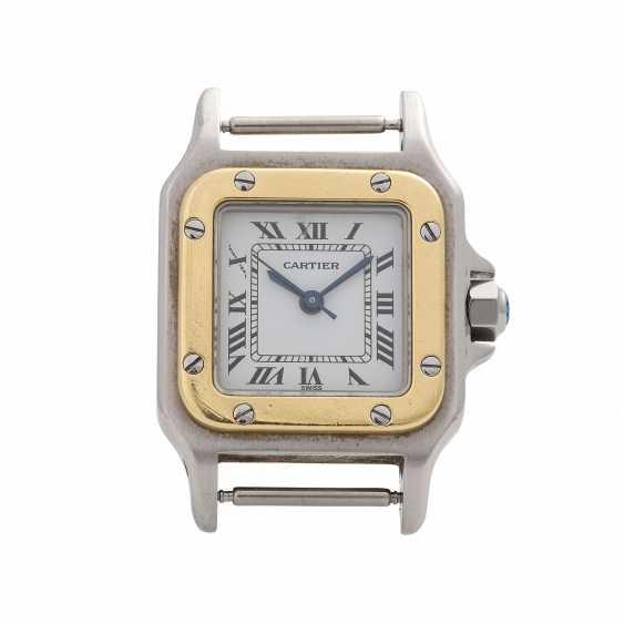 CARTIER Santos women's watch, CA. 1980/90s. Stainless Steel/Gold. - photo 1