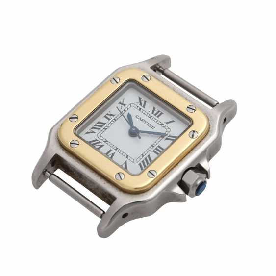 CARTIER Santos women's watch, CA. 1980/90s. Stainless Steel/Gold. - photo 4