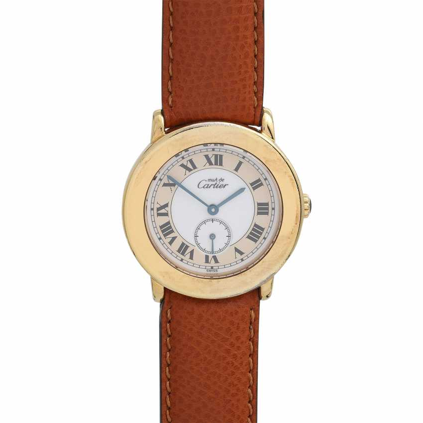 CARTIER Ronde Must women's watch, Ref. 1800-1. Housing, silver/gold plated. - photo 1