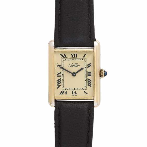 CARTIER Tank Vintage ladies watch, 1970s. Housing, silver/gold plated. - photo 1