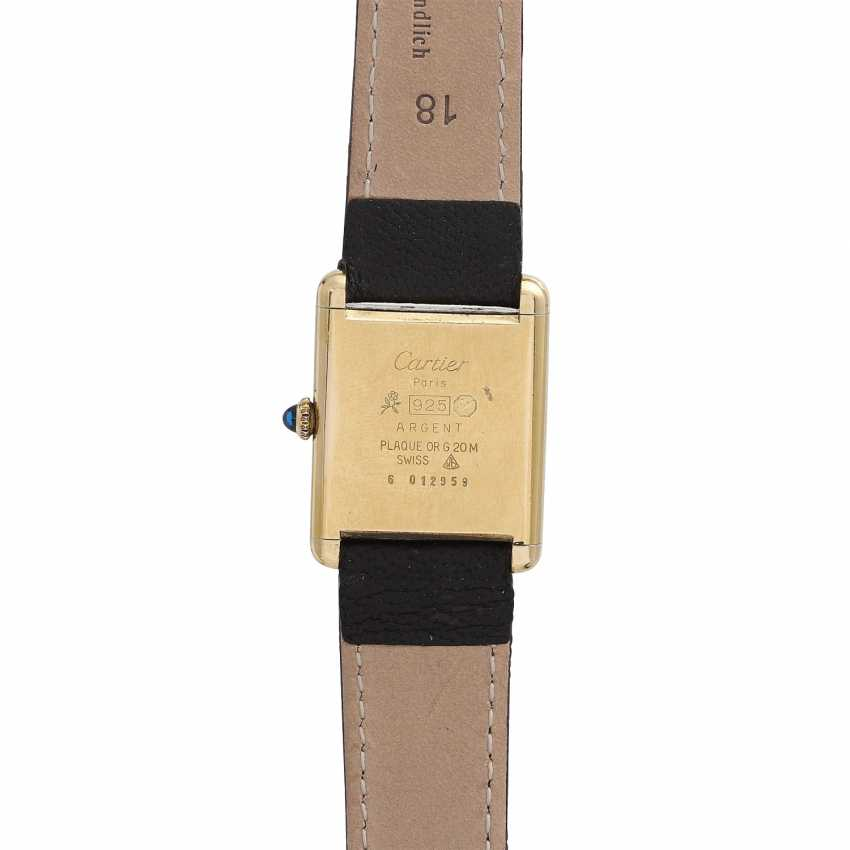 CARTIER Tank Vintage ladies watch, 1970s. Housing, silver/gold plated. - photo 2