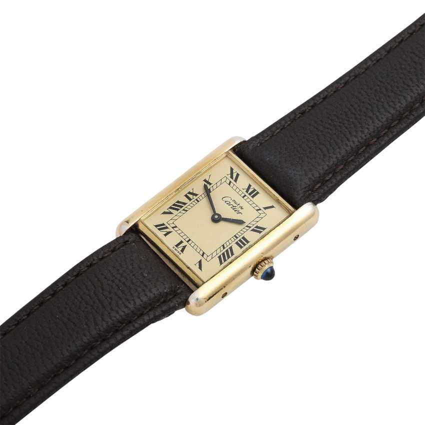 CARTIER Tank Vintage ladies watch, 1970s. Housing, silver/gold plated. - photo 4