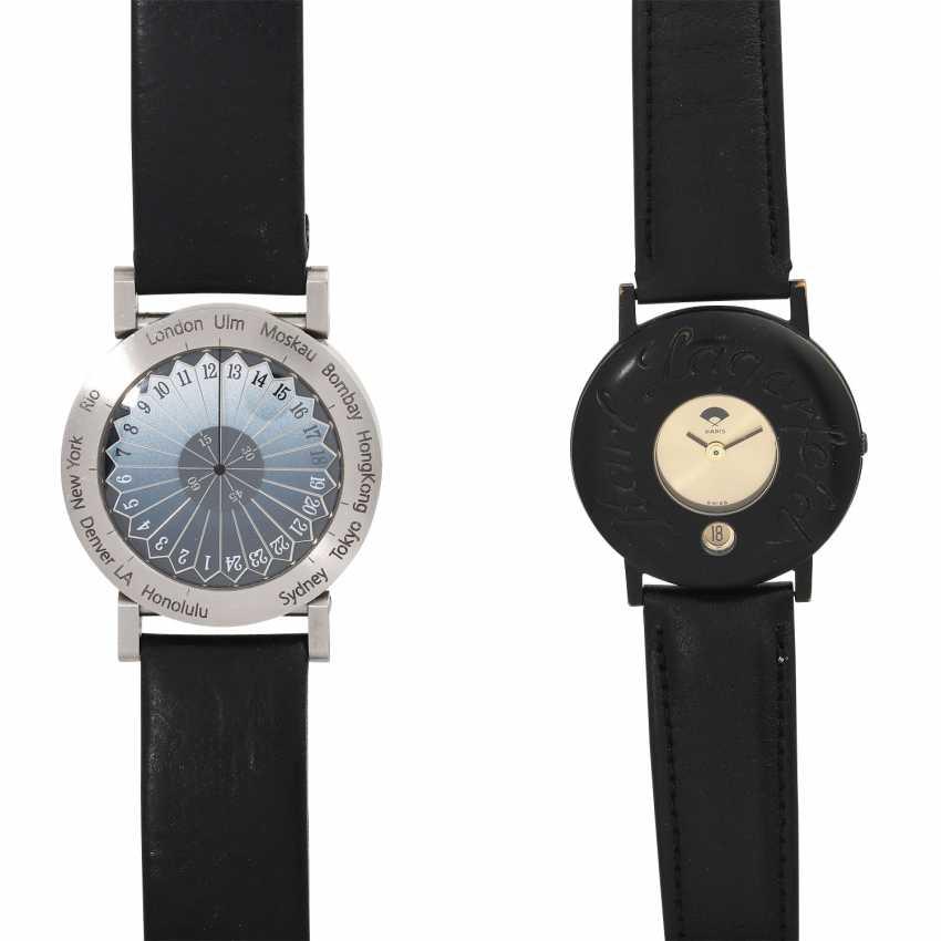 Group: A wrist watch, KARL LAGERFELD & a wrist watch EHINGER-SCHWARZ. - photo 1