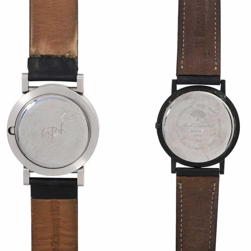 Group: A wrist watch, KARL LAGERFELD & a wrist watch EHINGER-SCHWARZ. - photo 2