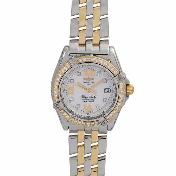 BREITLING Wings Lady women's watch, Ref. D67350. Stainless steel/Gold 18K. - photo 1