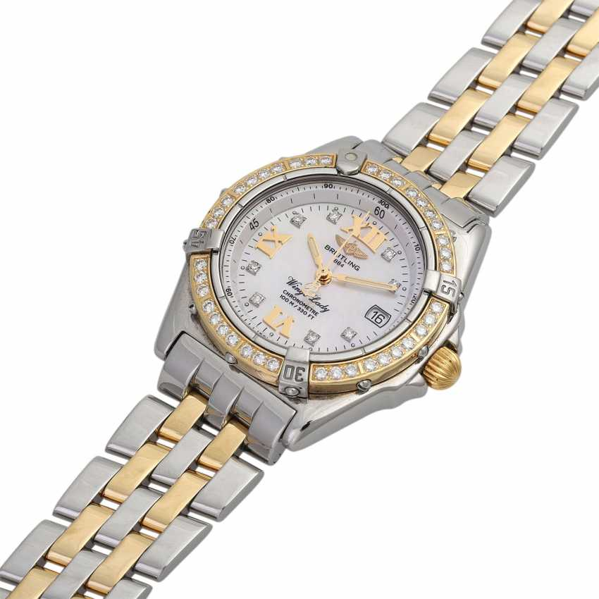 BREITLING Wings Lady women's watch, Ref. D67350. Stainless steel/Gold 18K. - photo 4