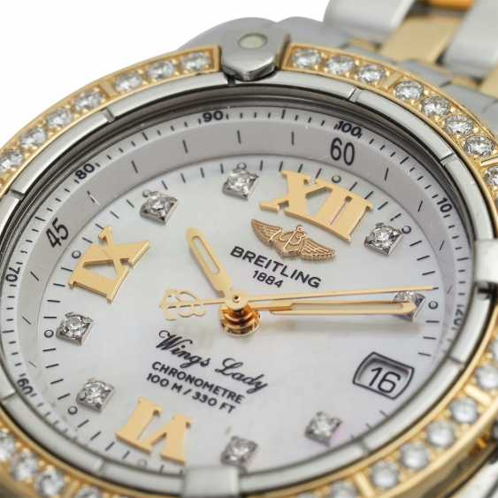 BREITLING Wings Lady women's watch, Ref. D67350. Stainless steel/Gold 18K. - photo 5