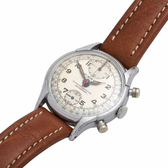 PIERCE Vintage Chronograph, CA. 1950s. Housing-plated steel Nickel-plated/ground. - photo 4