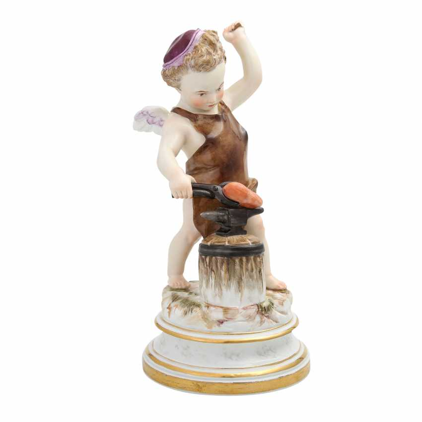 MEISSEN 'Cupid as a blacksmith', after 1860. - photo 2