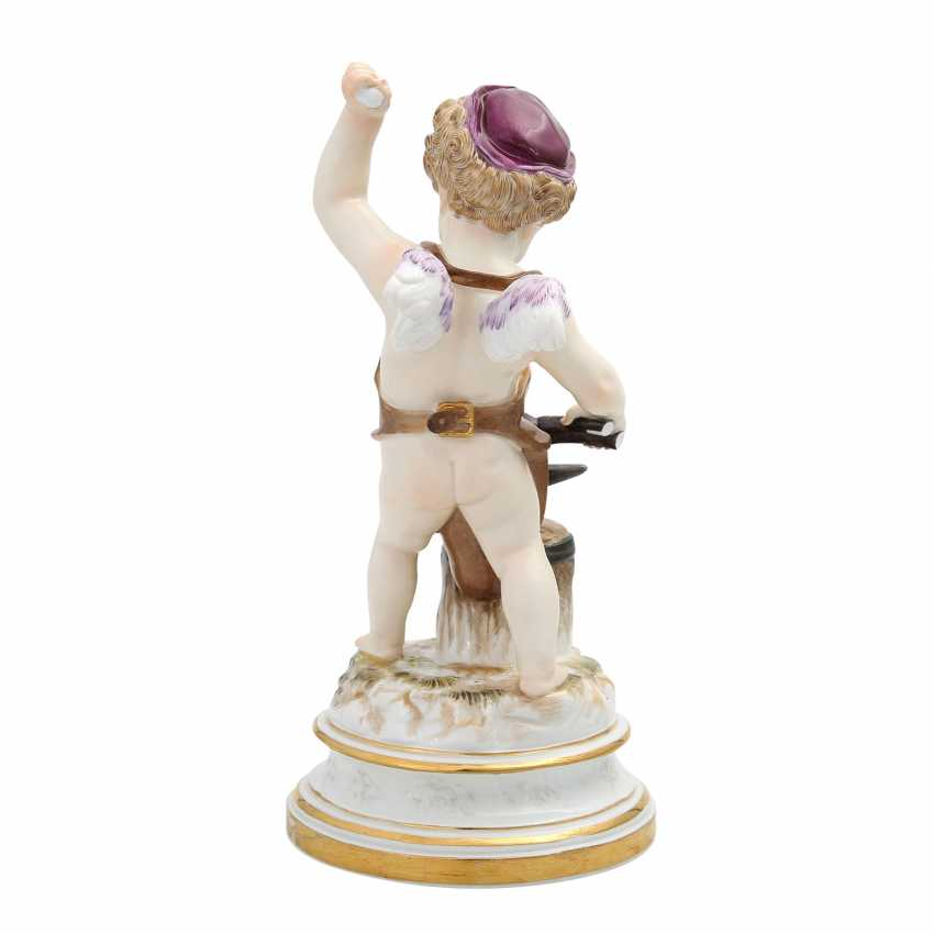 MEISSEN 'Cupid as a blacksmith', after 1860. - photo 4