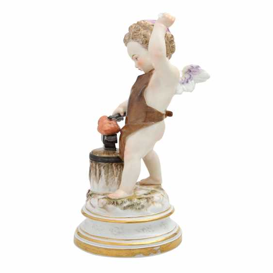 MEISSEN 'Cupid as a blacksmith', after 1860. - photo 5