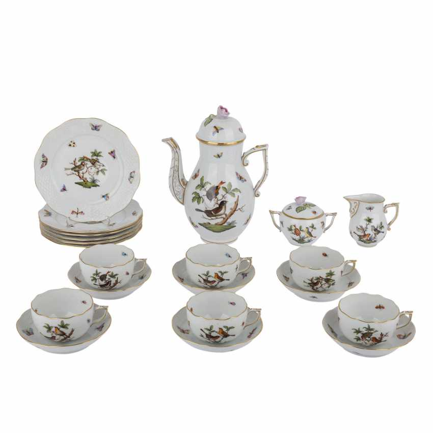 HEREND coffee service for 6 persons, 'Rothschild', 20. Century. - photo 1