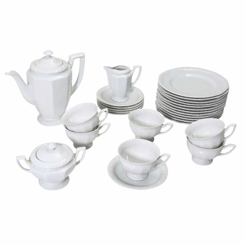 ROSENTHAL coffee and dinner service for 6 persons, 'Maria white', 2. Choice, 20./21. Century. - photo 3