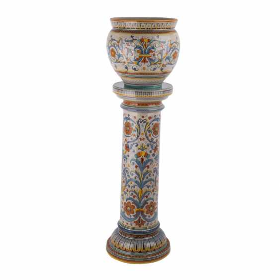 DERUTA ITALY floral column with Cachepot, 20. Century - photo 1