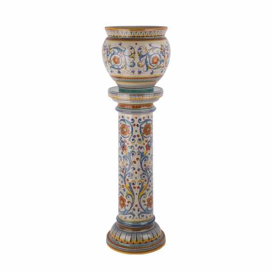 DERUTA ITALY floral column with Cachepot, 20. Century - photo 4