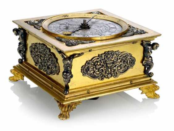 Magnificent Horizontal Table Clock, Ref. I. V. K., 1. Half of 18. Century - photo 1