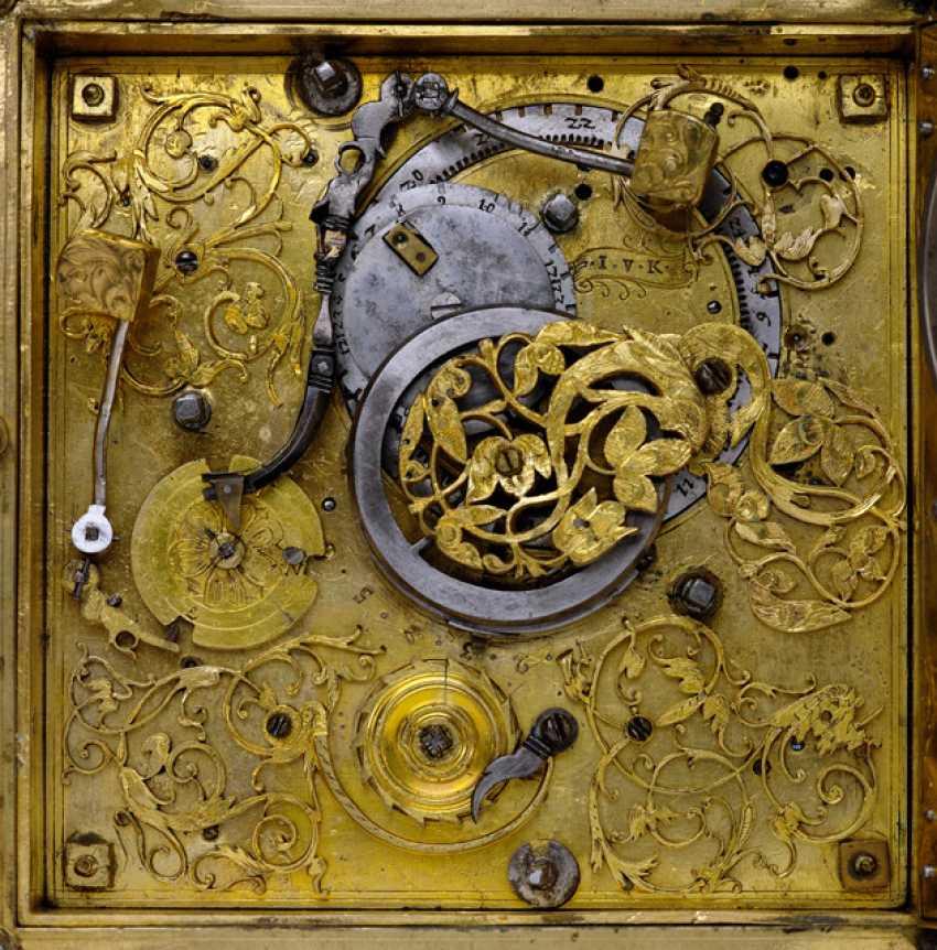 Magnificent Horizontal Table Clock, Ref. I. V. K., 1. Half of 18. Century - photo 5