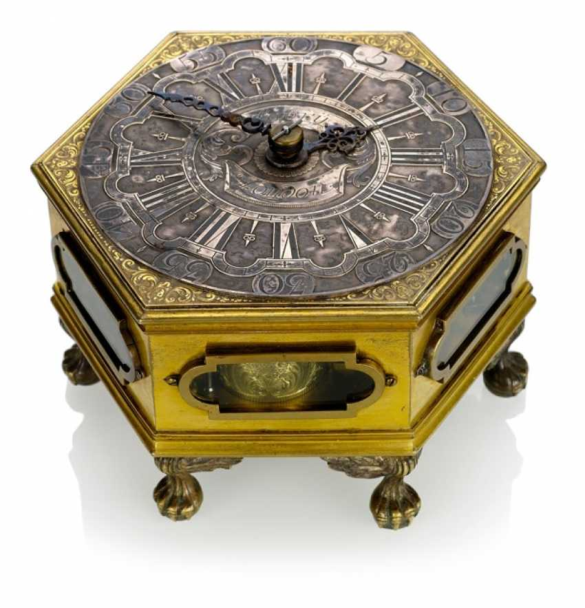 Horizontal Table Clock, Ref. Annibal Labry London, In The Beginning Of 18. Century - photo 2