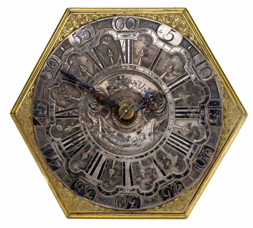 Horizontal Table Clock, Ref. Annibal Labry London, In The Beginning Of 18. Century