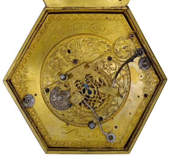 Horizontal Table Clock, Ref. Annibal Labry London, In The Beginning Of 18. Century - photo 4