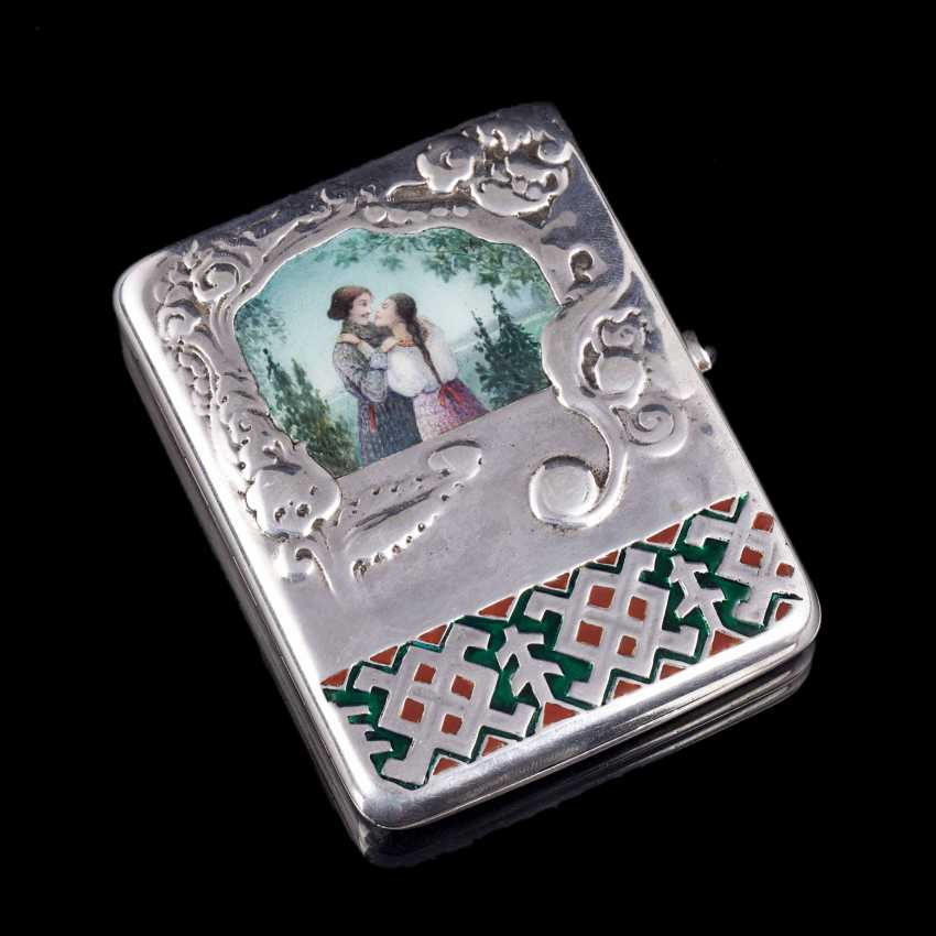Cigarette case with enamel inlay. Moscow - photo 1
