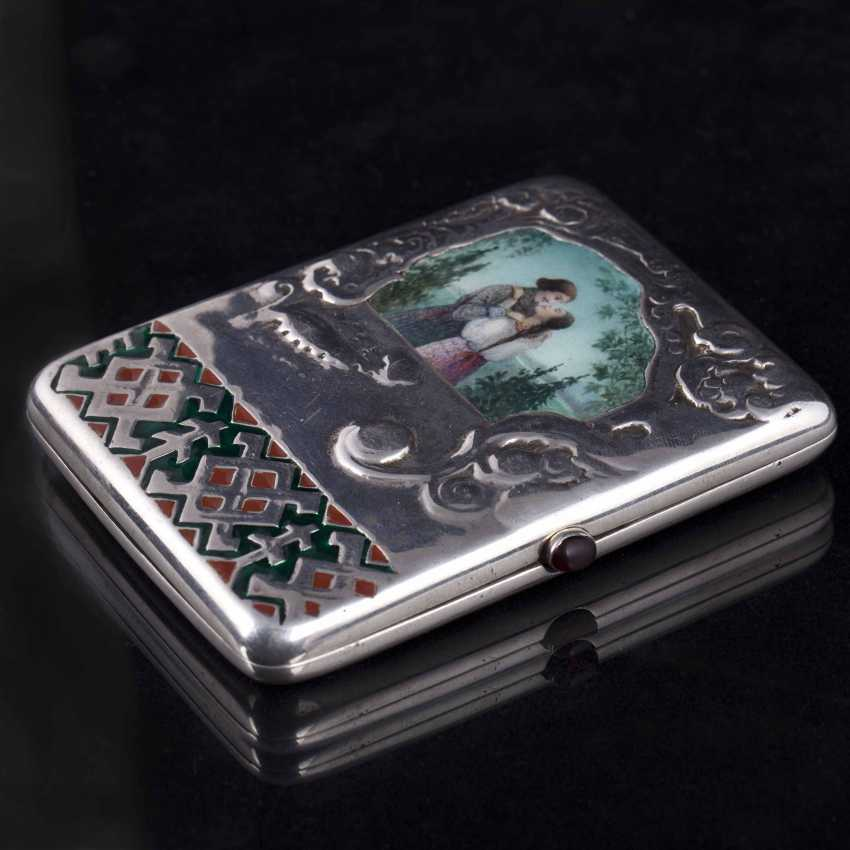 Cigarette case with enamel inlay. Moscow - photo 2