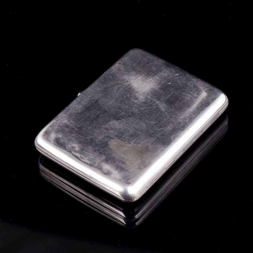 Cigarette case with enamel inlay. Moscow - photo 3