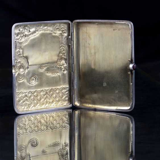 Cigarette case with enamel inlay. Moscow - photo 4