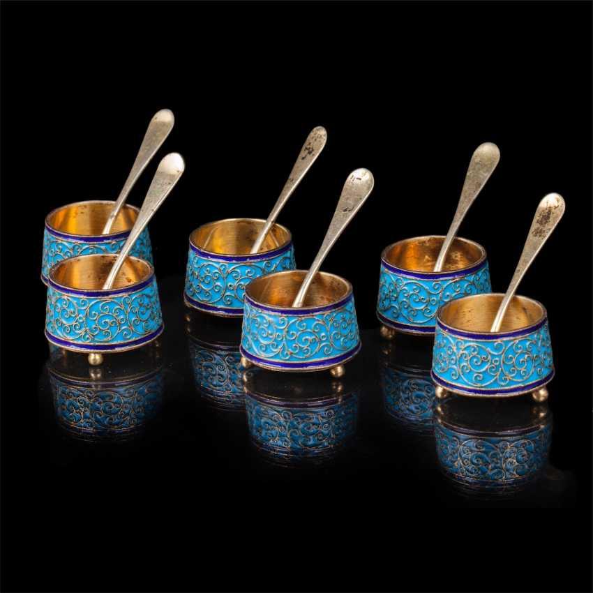 Set of 6 salt spoons. O. Kurlyukov - photo 1