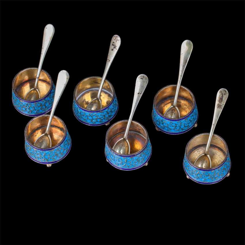 Set of 6 salt spoons. O. Kurlyukov - photo 2