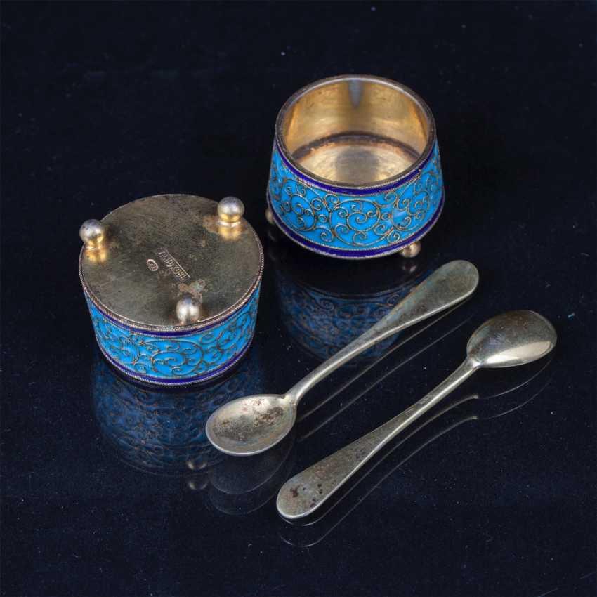 Set of 6 salt spoons. O. Kurlyukov - photo 3