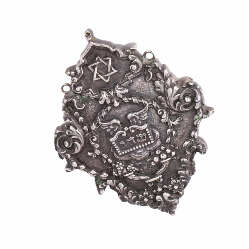 Silver cameo (amulet in Judaism). - photo 4