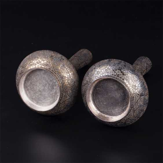A pair of silver Indian vessels - photo 5
