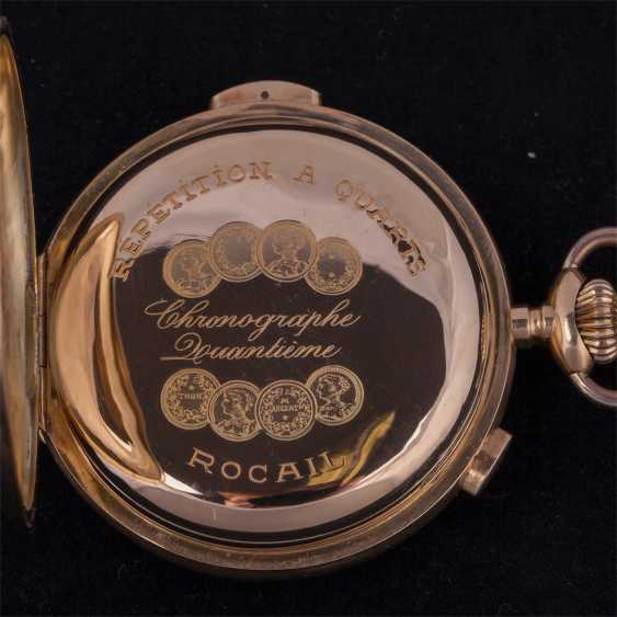 18K gold, quarter repeater with chronograph - photo 5