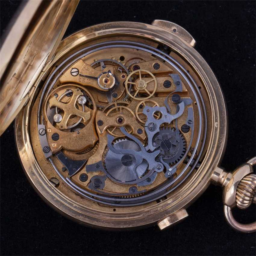 18K gold, quarter repeater with chronograph - photo 7