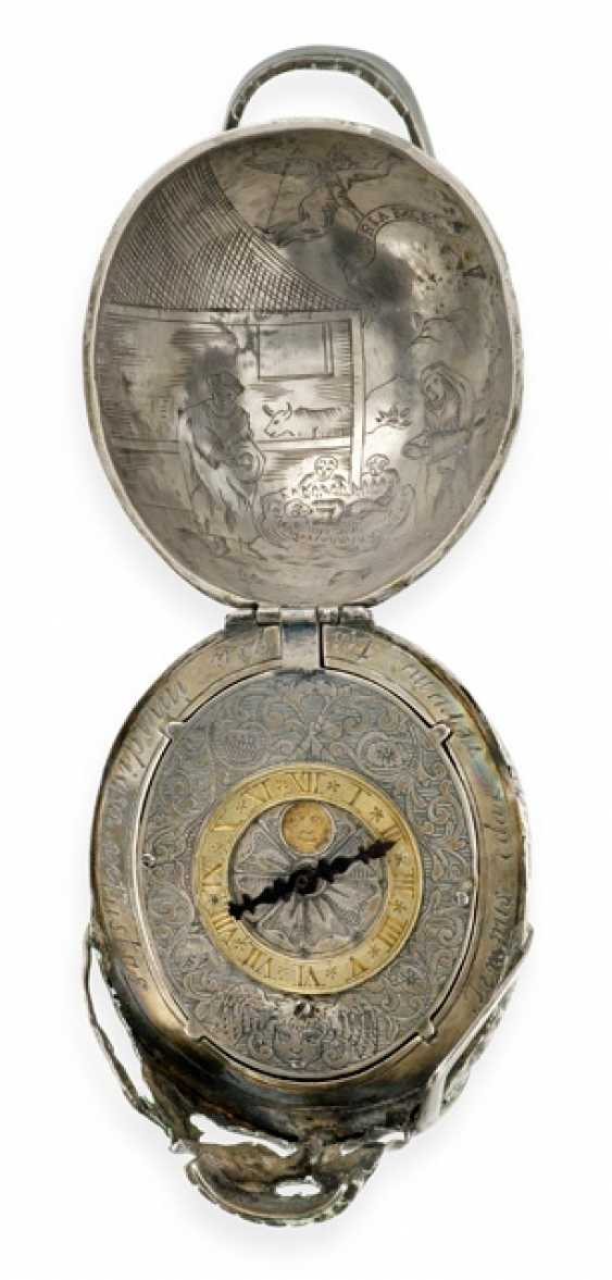 Silver Skull Watch, Ref. Geo Schloer fec. Augspurg, around 1670 - photo 2