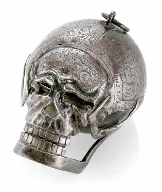 Silver Skull Watch, Ref. Geo Schloer fec. Augspurg, around 1670 - photo 1