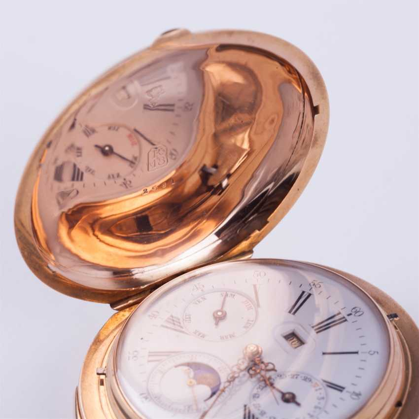 18K gold minute repeater with full calendar - photo 8