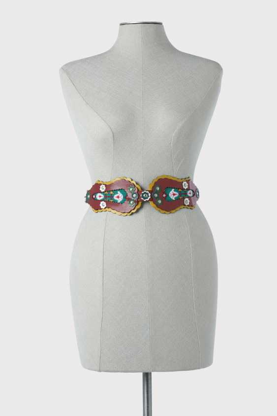"""Belt. Kenzo Takada for Kenzo, Paris, Prêt-à - Porter collection spring-summer 1983 """"Mongolian collection"""" - photo 1"""