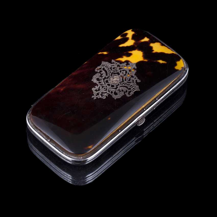Case for cigaril made of tortoise shell - photo 1